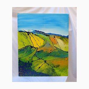 Countryside in Umbria - Original Enamel Painting - 2007 2007