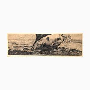 Venus in Muschelwagen - Original Radierung von E. Einschlag nach M. Klinger - 1907 1907