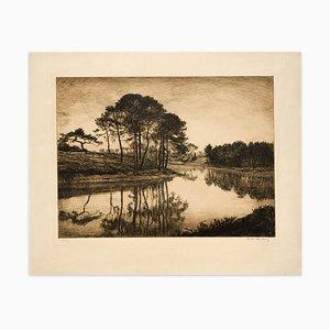 Landscape - Original Print - 19th Century 19th Century