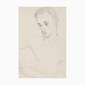 Portrait - Original Zeichnung - 20. Jahrhundert 20. Jahrhundert
