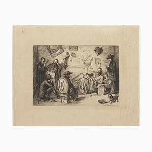 The Poet - Original Etching - Early 20th Century Early 20th Century