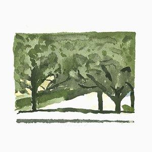 Green Trees - Vintage Offset Print after Giorgio Morandi - 1973 1973