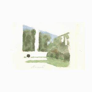 Landscape - Vintage Offset Print after Giorgio Morandi - 1973 1973