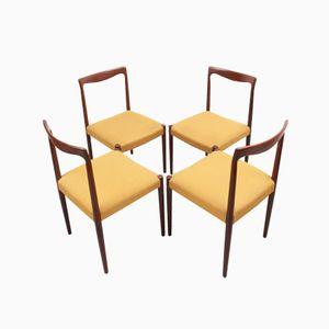 Chaises Vintage en Teck, Allemagne, 1960s, Set de 4