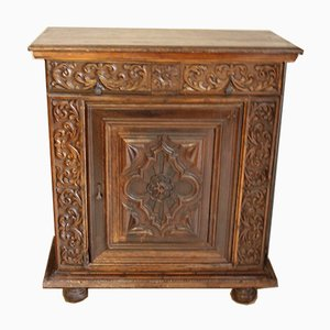 Antique French Renaissance Style Walnut Stipone Cabinet