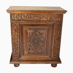 Mobiletto Stipone antico in stile rinascimentale in legno di noce, Francia