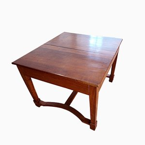 Italian Solid Cherry Extendable Side Table, 1920s