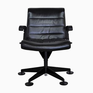 Leather Desk Chair by Richard Sapper for Knoll Inc. / Knoll International, 1980s