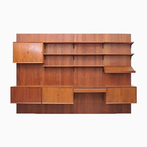 Royal Wall Unit by Poul Cadovius for Cado, 1960s, Set of 18