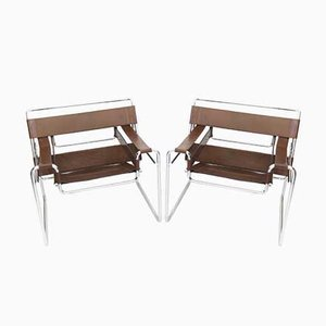 Model B3 Armchairs by Marcel Breuer for Gavina, 1970s, Set of 2