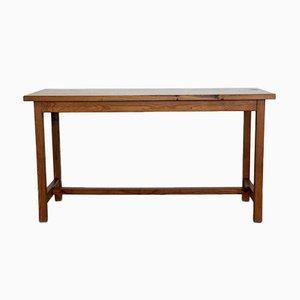 Tavolo vintage in legno di pino massiccio, anni '70