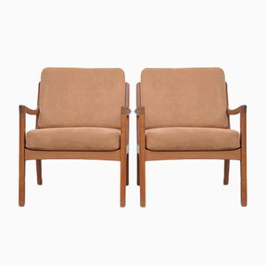 Mid-Century Teak Senator Lounge Chairs by Ole Wanscher for Cado, Set of 2