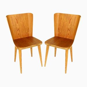 Pine Dining Chairs by Göran Malmvall for Svensk fur, 1950s, Set of 2