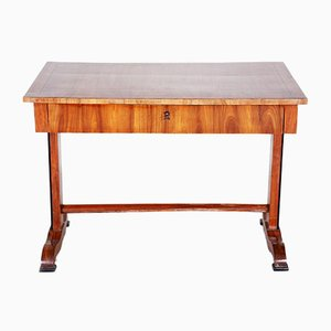 19th-Century German Biedermeier Walnut Writing Desk, 1840s