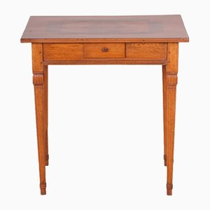 18th-Century Classicist Small Brown Cherry Wood Card Table, 1790s