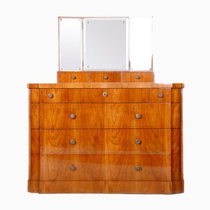 Czech Art Deco Dressing Table with Mirror, 1920s