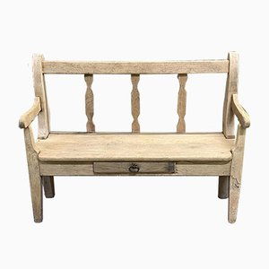 Light Oak and Chestnut Bench