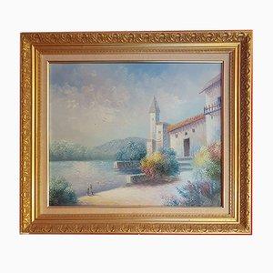 Vintage Malerei, Öl auf Leinwand von Du Bouis