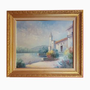 Vintage Painting from Bouis, Oil on Canvas