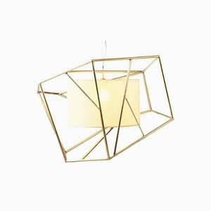Star Brass Suspension Lamp by Utu Soulful Lighting