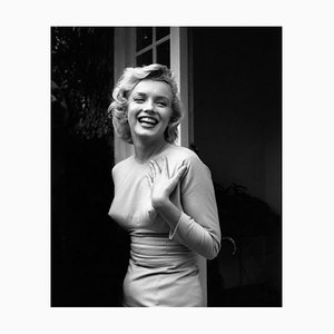Happy Marylin Silver Gelatin Resin Print, Framed In White by Evening Standard for GALERIE PRINTS