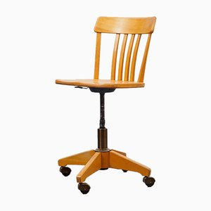 Architect's Beech Desk Chair, 1950s