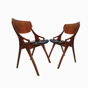 Mid Century Side Chairs by Arne Hovmand Olsen for Mogens Kold, 1958, Set of 2