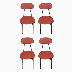 Red Ant Dining Chairs, 1970s, Set of 4