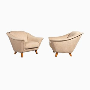 Vintage Lounge Chairs in Beige by Wilhelm knoll for Walter Knoll / Wilhelm Knoll, Set of 2