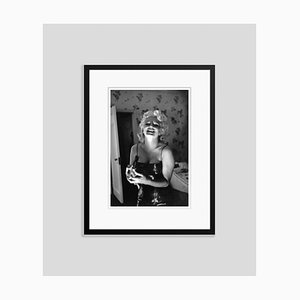 Marilyn Getting Ready To Go Out Silver Gelatin Resin Print, Framed In Black by Ed Feingersh for GALERIE PRINTS