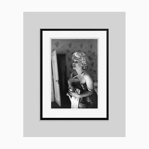 Marilyn Getting Ready To Go Out New York Silver Gelatin Resin Print, Framed In Black by Ed Feingersh for GALERIE PRINTS