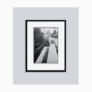 Marilyn On the Roof Silver Gelatin Resin Print, Framed In Black by Ed Feingersh for GALERIE PRINTS
