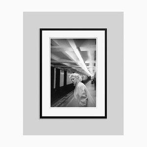 Marilyn In Grand Central Station Silver Gelatin Resin Print, Framed In Black by Ed Feingersh for GALERIE PRINTS