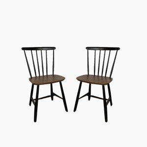 Ilmari Tapiovaara Style Dining Chairs, 1960s, Set of 2