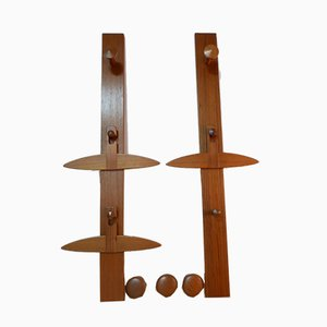No. 140 Teak Coat Racks by Aksel Kjersgaard for Aksel Kjersgaard, 1960s, Set of 8