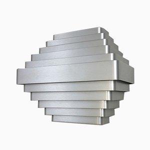 Große Aluminium Wandlampe von Jules Wabbes für Wabbes, 1970er