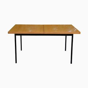 Mid-Century Extendable Birch Veneer No. 413 Dining Table by Fred Ruf for Knoll Inc. / Knoll International