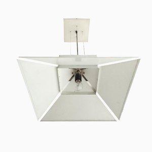 Lampada a sospensione in metallo bianco di Artimeda, anni '70