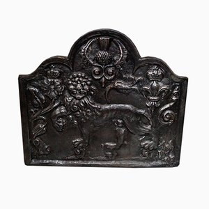 Large Cast Iron Fire Back
