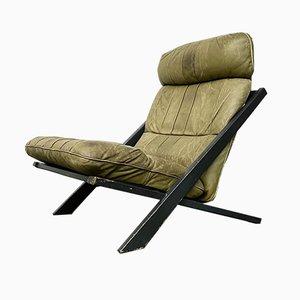Schweizer Vintage DS-80 Sessel aus olivfarbenem Leder von Ueli Berger für Desede
