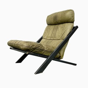Vintage Swiss DS-80 Lounge Chair in Olive Leather by Ueli Berger for Desede