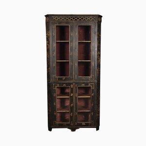 George III Chinoiserie Corner Cupboard