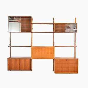 Vintage Modular Danish Royal System Teak Wall Unit Set by Poul Cadovius for Cado