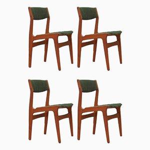 Danish Teak Dining Chairs from Nova, 1970s, Set of 4