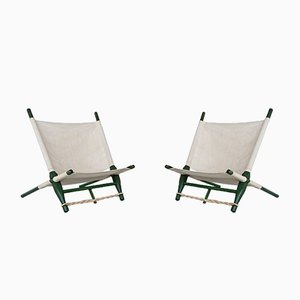 Lounge Chairs by Ole Gjerløv-Knudsen & Torben Lind for Cado, 1958, Set of 2
