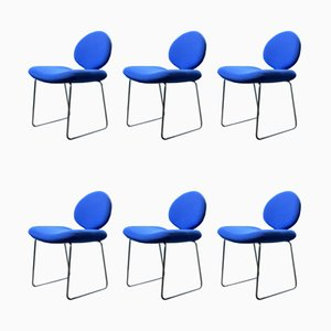 Blue Gabriel Dining Chairs by Olivier Mourgue for Airborne, 1968, Set of 6