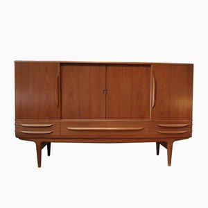 Scandinavian Buffet with Sliding Door & Teak Drawers from SAMCOM, 1960s