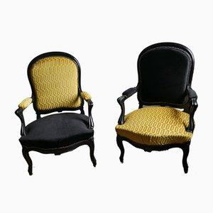 Napoleon III Armlehnstühle, 2er Set