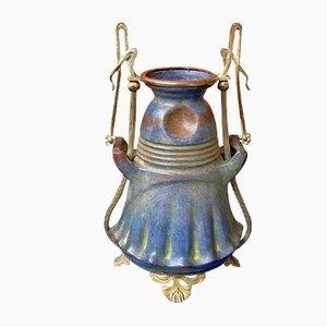 Antike Jugendstil Vase von Julius Dressler