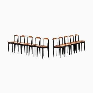 Chaises de Salon Thema par Yngve Ekström pour Swedese, 1953, Set de 10